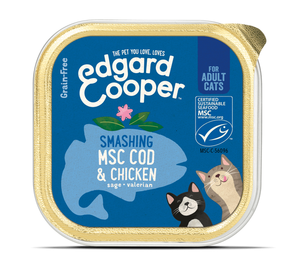 Edgard Cooper MSC Cod & Chicken Cup for cats