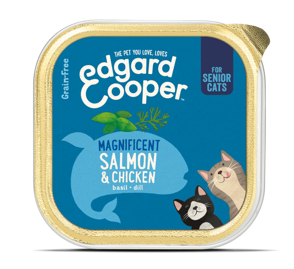 Edgard Cooper Salmon & Chicken cup for Senior Cats 19x85g