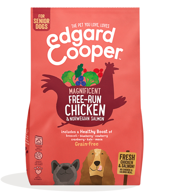 Edgard Cooper Fresh Free-Run Chicken & Norwegian Salmon for Senior Dogs