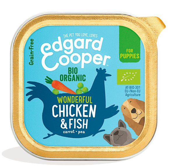 Edgard Cooper Organic Chicken & Fish Cup for Puppies