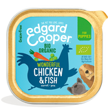 Edgard Cooper Organic Chicken & Fish Cup for Puppies 17x100g