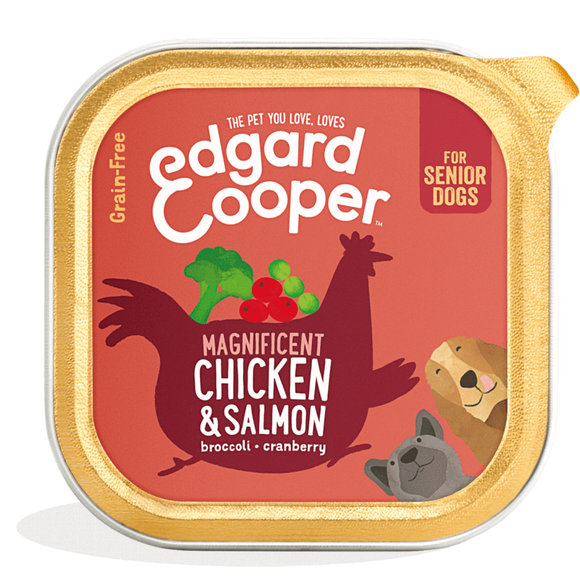 Edgard Cooper Chicken & Salmon Cup for Senior Dogs 11x150g