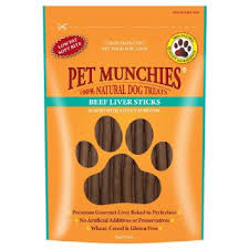 Pet Munchies Beef Liver Sticks 90g