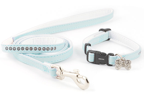 Ancol - Small Bite Collar & Lead Blue