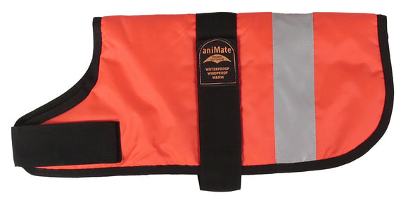 Animate Dog Coat - Hi-Viz Orange