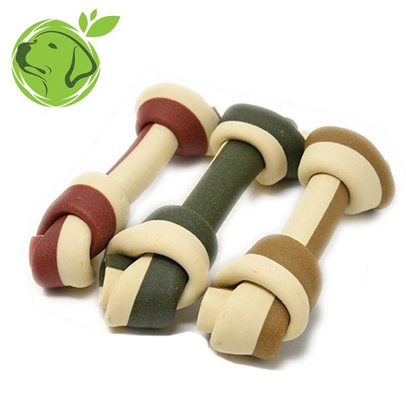 Makauri Veggie Dog Treats Knotted Bone