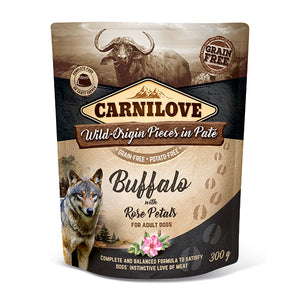 Carnilove Buffalo with Rose Petals (Wet Pouch)