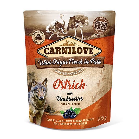 Carnilove Ostrich with Blackberries (Wet Pouch)