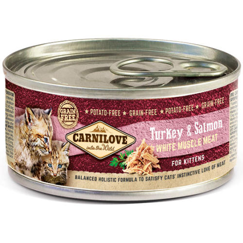 Carnilove Turkey & Salmon Wet Kitten Food 6x100g