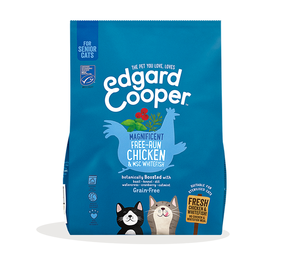 Edgard Cooper Fresh Free-run Chicken & North Atlantic White Fish for Senior Cats 1.75kg