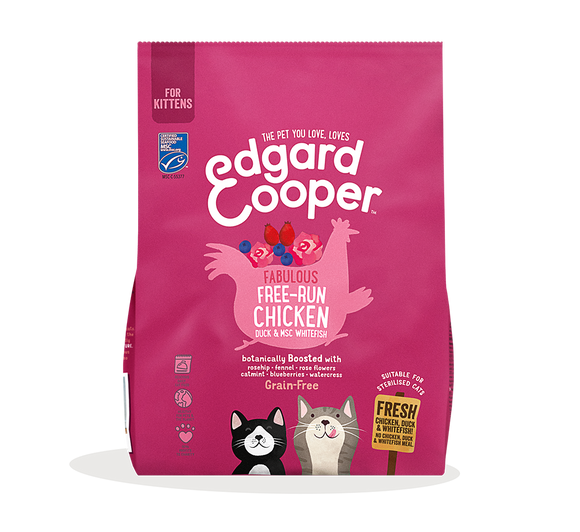 Edgard Cooper Fresh Free-run Chicken, Duck & North Atlantic White Fish for Kittens 1.75kg