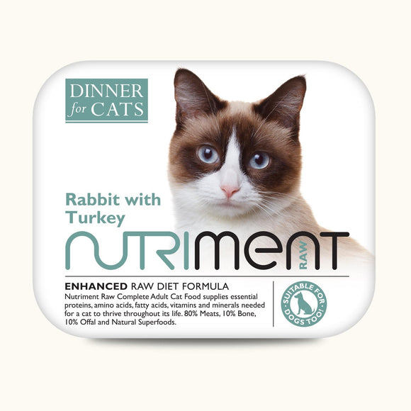 Nutriment Dinner for Cats Rabbit Turkey 175g