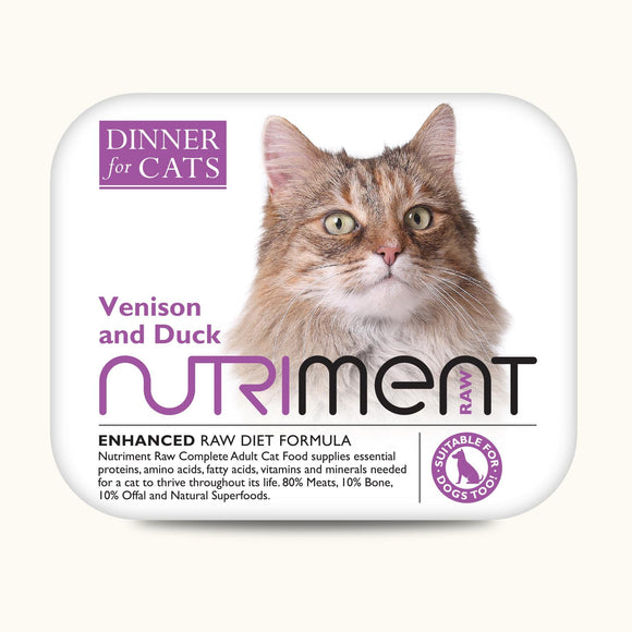 Nutriment Dinner for Cats Venison & Duck 175g