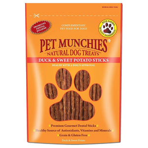Pet Munchies Duck & Sweet Potato Sticks 90g