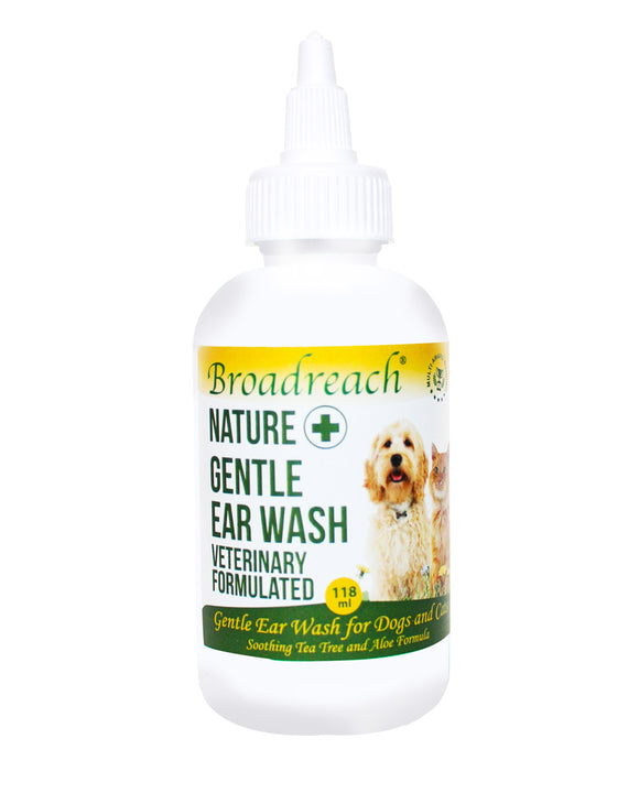 Broadreach Gentle Ear Wash for Dogs and Cats (Veterinary Formulated)