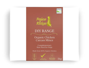 Paleo Ridge Organic Chicken Carcass Mince 1kg