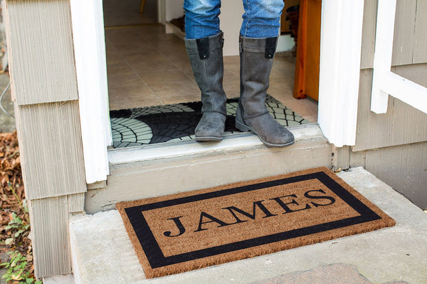 Single Border Personalized Doormats