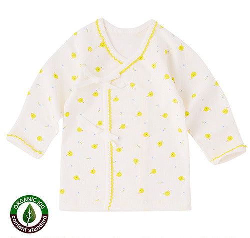 Organic Benet Gown in Yellow Chicks - Natura Organic