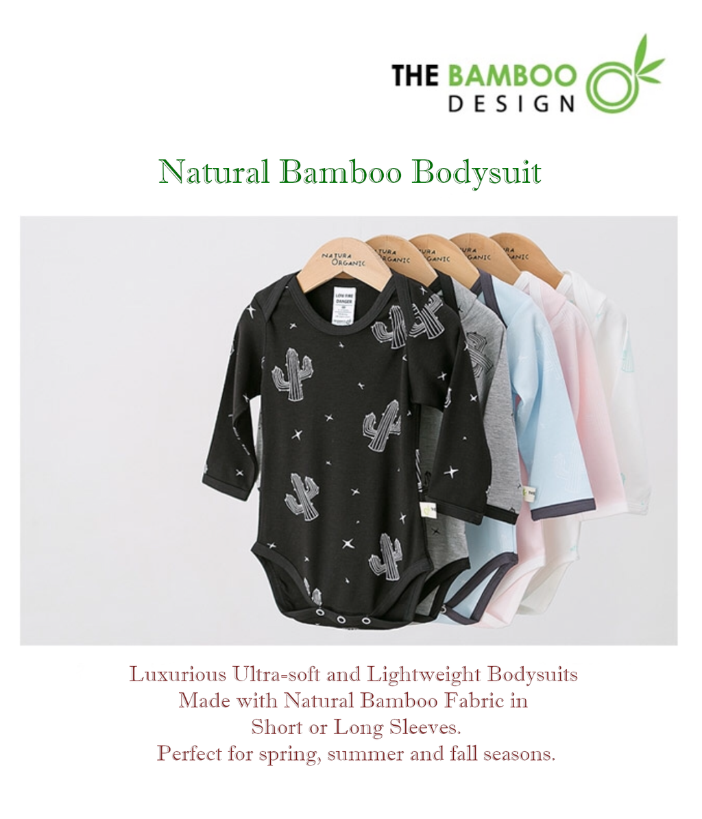Premium Bamboo Soft Bodysuit (Short or Long sleeves)
