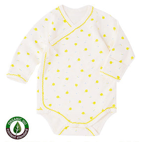 Benet Bodysuit in Yellow Chicks by Natura Organic