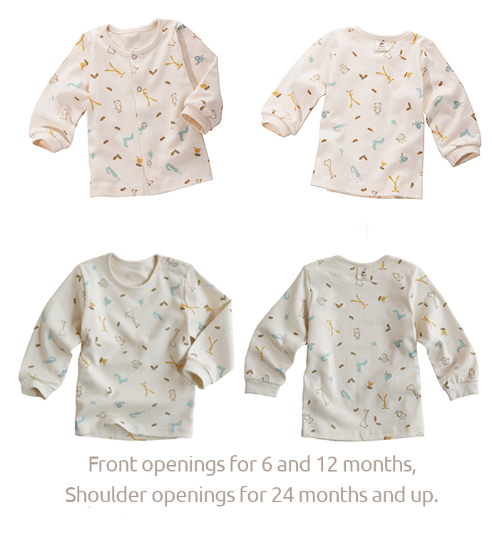 Organic Long-Sleeve PJ Set - Animals