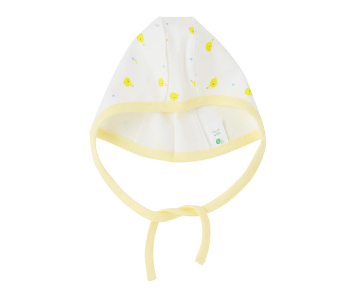 Organic Baby Pilot Hat in Yellow Chicks by Natura Organic