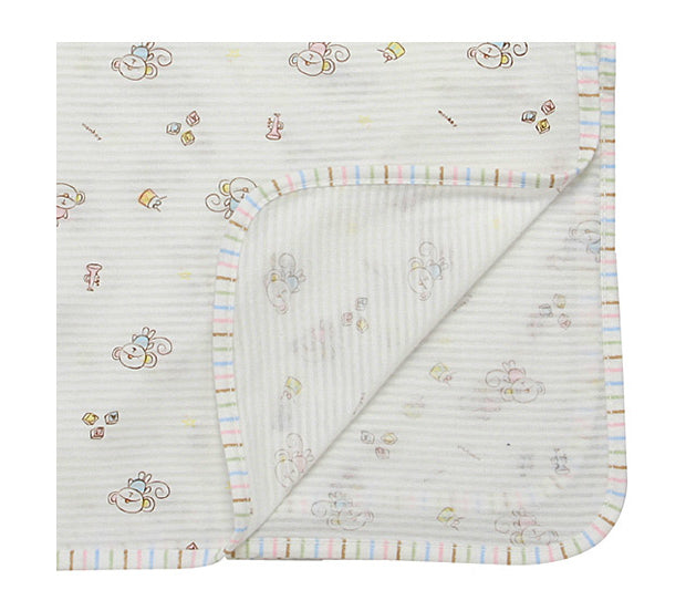 Organic Swaddle Summer Blanket - Monkey