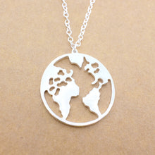 Load image into Gallery viewer, World Map Pendant Necklace