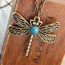 Load image into Gallery viewer, Dragonfly Pendant Necklace