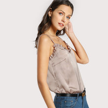 Load image into Gallery viewer, Frill Trim Sleeveless Top