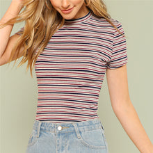 Load image into Gallery viewer, Striped Rib Knit Tee