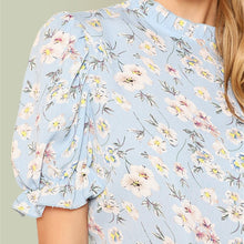 Load image into Gallery viewer, Floral Print Puff Sleeve Top