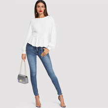 Load image into Gallery viewer, Long Sleeve White Blouse