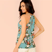 Load image into Gallery viewer, Floral Print Sleeveless Shell Top