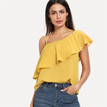 Load image into Gallery viewer, Yellow Party Elegant One Top