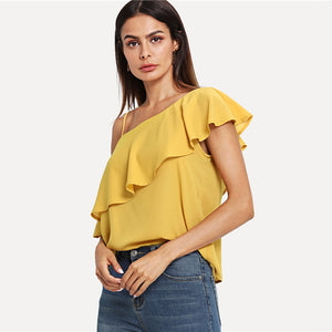 Yellow Party Elegant One Top