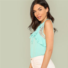 Load image into Gallery viewer, Sleeveless Lace Neck Top