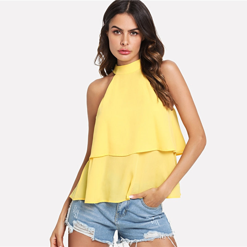 Yellow Two Layered Top