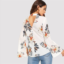 Load image into Gallery viewer, V Neck Split Sleeve Blouse