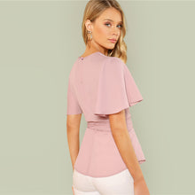 Load image into Gallery viewer, Pink Belted Blouse