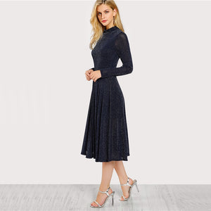 Long Sleeve Flare Dress