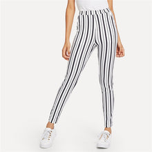 Load image into Gallery viewer, Black and White Striped Pants
