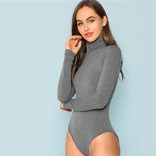 Load image into Gallery viewer, Grey High Neck Knit Bodysuit