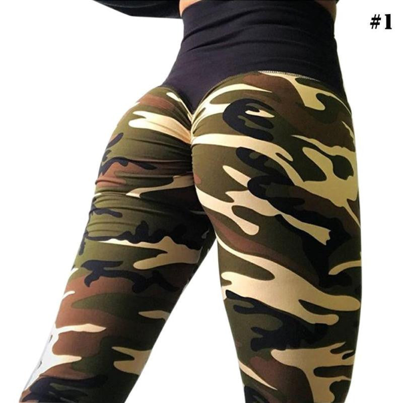 Slim Fit Camo Yoga Pants Leggings