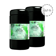 Laden Sie das Bild in den Galerie-Viewer, Aktion: 2x Hawaii Spirulina Algen 800 Presslinge