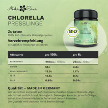Laden Sie das Bild in den Galerie-Viewer, Bio Chlorella Algen 400 Presslinge