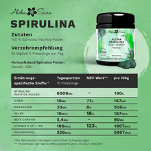 Laden Sie das Bild in den Galerie-Viewer, Hawaii Spirulina Algen 400 Presslinge