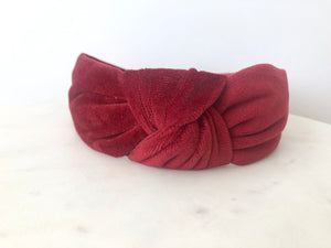 Nadia headband in red