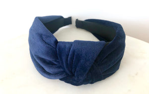 Nadia headband in blue