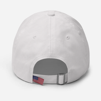 """The Sky Isn't Falling, Chicken Little"" American Victory Hat - 100% Made in America (White)"